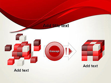 Red Flame Wave Abstract PowerPoint Template Slide 17