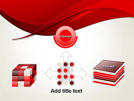 Red Flame Wave Abstract PowerPoint Template Slide 19