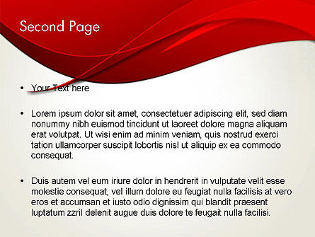 Red Flame Wave Abstract PowerPoint Template Slide 2