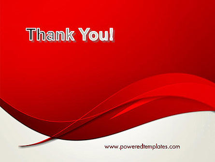 Red Flame Wave Abstract PowerPoint Template Slide 20