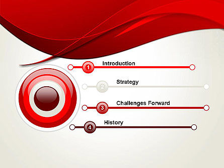 Red Flame Wave Abstract PowerPoint Template Slide 3