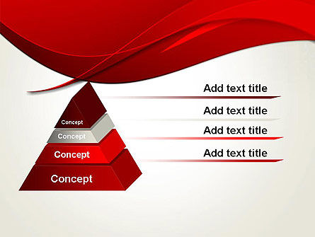 Red Flame Wave Abstract PowerPoint Template Slide 4