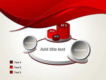 Red Flame Wave Abstract PowerPoint Template Slide 6