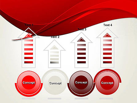 Red Flame Wave Abstract PowerPoint Template Slide 7