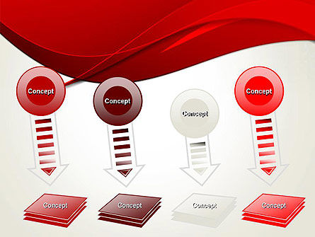 Red Flame Wave Abstract PowerPoint Template Slide 8