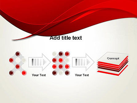 Red Flame Wave Abstract PowerPoint Template Slide 9