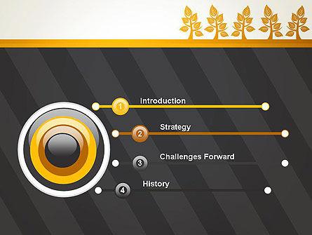 Yellow Trees Illustration PowerPoint Template, Slide 3, 13603, Nature & Environment — PoweredTemplate.com