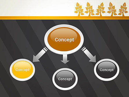 Yellow Trees Illustration PowerPoint Template, Slide 4, 13603, Nature & Environment — PoweredTemplate.com