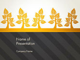 Nature & Environment: Yellow Trees Illustration PowerPoint Template #13603