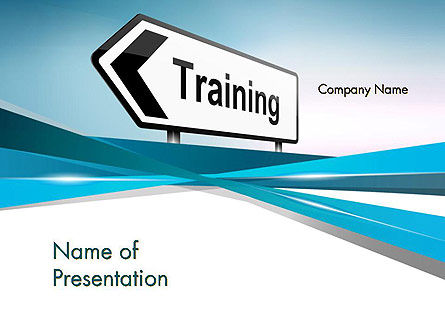 Training Course Sign PowerPoint Template, 13604, Education & Training — PoweredTemplate.com