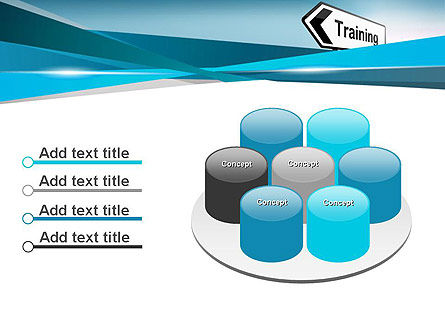 Training Course Sign PowerPoint Template Slide 12