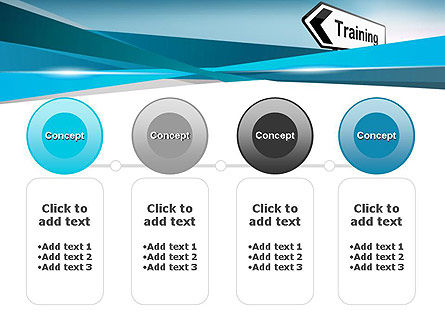 Training Course Sign PowerPoint Template Slide 5