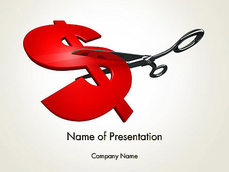 Cut Cost PowerPoint Template