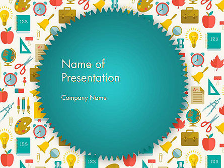 School Time PowerPoint Template, 13606, Education & Training — PoweredTemplate.com