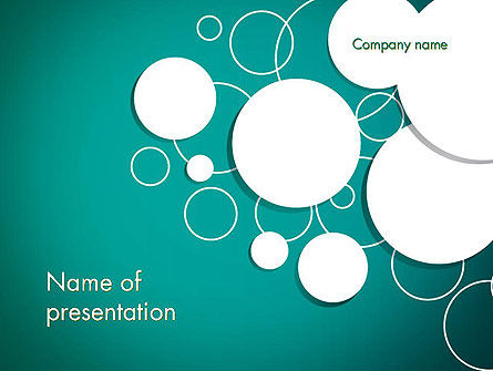 Paper Cut Circles Abstract PowerPoint Template