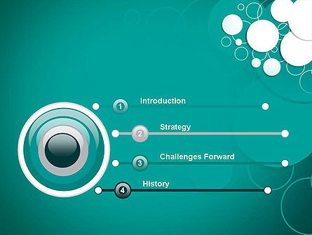Paper Cut Circles Abstract PowerPoint Template Slide 3