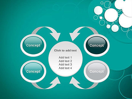 Paper Cut Circles Abstract PowerPoint Template Slide 6