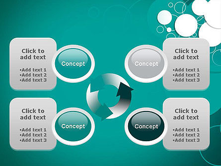 Paper Cut Circles Abstract PowerPoint Template Slide 9