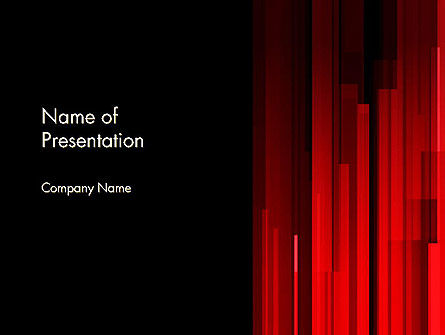 Abstract/Textures: Abstract Vertical Red Strings PowerPoint Template #13609