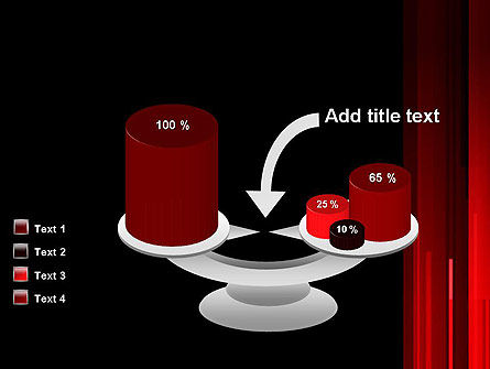 Abstract Vertical Red Strings PowerPoint Template Slide 10
