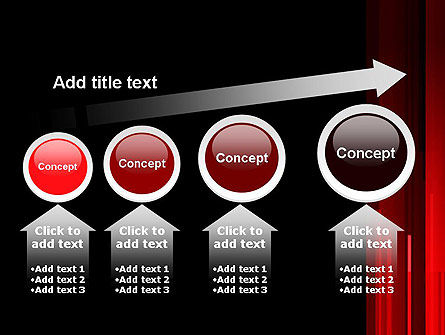 Abstract Vertical Red Strings PowerPoint Template Slide 13