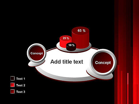 Abstract Vertical Red Strings PowerPoint Template Slide 16