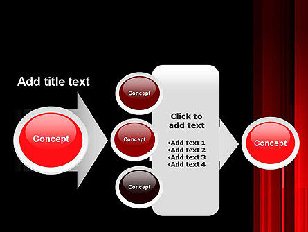 Abstract Vertical Red Strings PowerPoint Template Slide 17