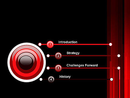 Abstract Vertical Red Strings PowerPoint Template Slide 3