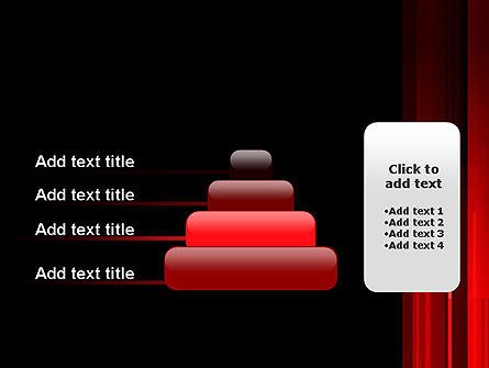 Abstract Vertical Red Strings PowerPoint Template Slide 8
