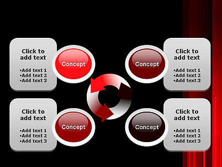 Abstract Vertical Red Strings PowerPoint Template Slide 9