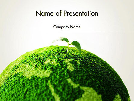 Young Shoot on Green Earth PowerPoint Template, 13612, Nature & Environment — PoweredTemplate.com