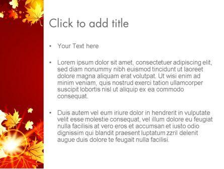 Autumn Leaves PowerPoint Template, Slide 3, 13613, Nature & Environment — PoweredTemplate.com