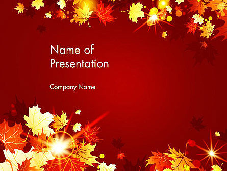 Autumn Leaves PowerPoint Template, 13613, Nature & Environment — PoweredTemplate.com