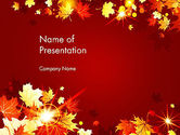 Nature & Environment: Autumn Leaves PowerPoint Template #13613