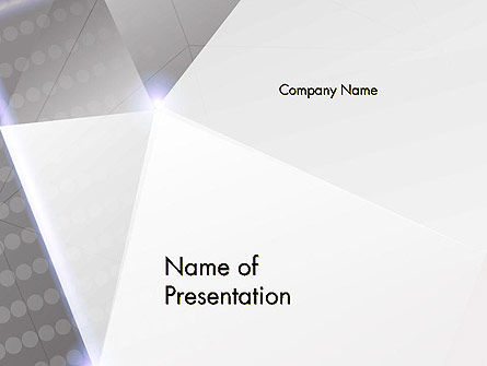 Abstract Refracting Surfaces PowerPoint Template