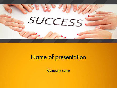 Working for Success PowerPoint Template, 13615, Business Concepts — PoweredTemplate.com