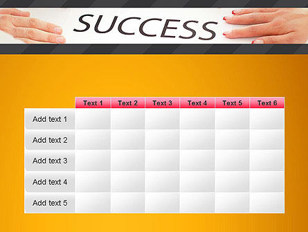Working for Success PowerPoint Template Slide 15