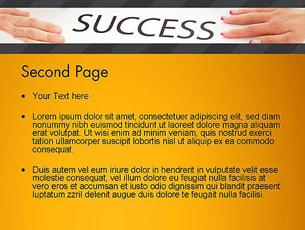 Working for Success PowerPoint Template, Slide 2, 13615, Business Concepts — PoweredTemplate.com