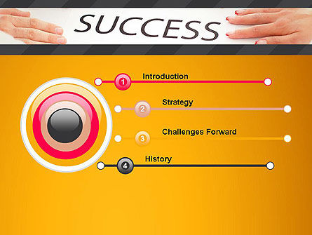 Working for Success PowerPoint Template, Slide 3, 13615, Business Concepts — PoweredTemplate.com