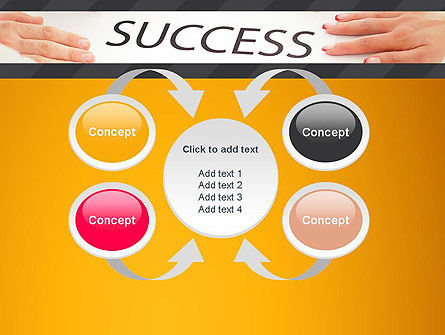 Working for Success PowerPoint Template Slide 6