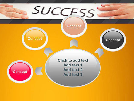 Working for Success PowerPoint Template Slide 7