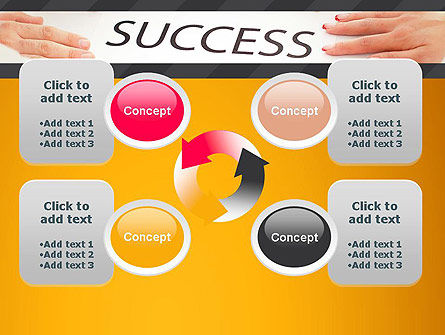 Working for Success PowerPoint Template Slide 9