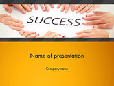 Business Concepts: Working for Success PowerPoint Template #13615