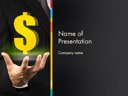 Save a Dollar PowerPoint Template, 13616, Financial/Accounting — PoweredTemplate.com