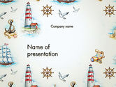Careers/Industry: Marine Background PowerPoint Template #13618