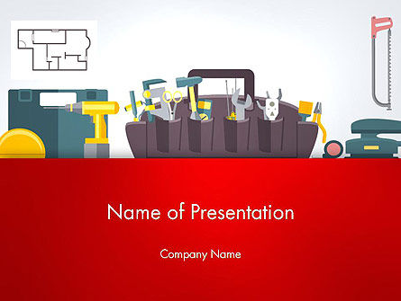 Construction Tools and Equipment PowerPoint Template, 13620, Construction — PoweredTemplate.com