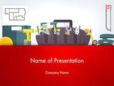 Construction: Bouw Instrumenten En Apparatuur PowerPoint Template #13620