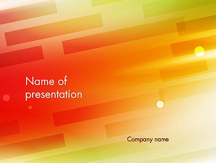 Abstract Red Orange Diagonal Glowing Stripe PowerPoint Template