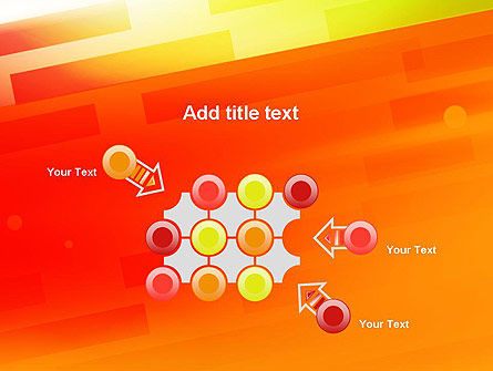 Abstract Red Orange Diagonal Glowing Stripe PowerPoint Template Slide 10