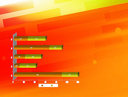 Abstract Red Orange Diagonal Glowing Stripe PowerPoint Template Slide 11
